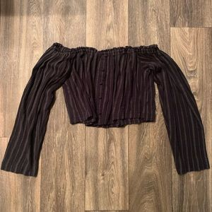 Urban outfitters black off shoulder top